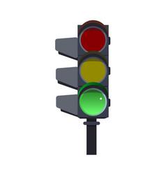 green traffic lights vector image vector image