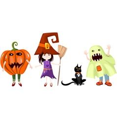 halloween cartoons vector image vector image