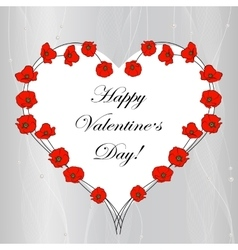 Happy Valentines Day lettering greeting card vector image