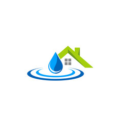 Home waterdrop logo vector