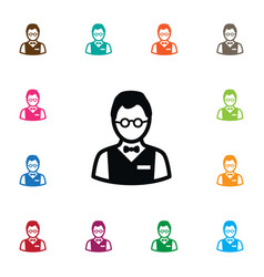 Isolated investor icon person element ca vector
