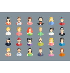 large set of avatars vector image vector image