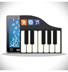 Mobile music social media app vector