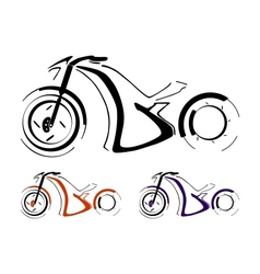 Motorcycle silhouette vector image vector image