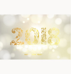 new year calendar label vector image