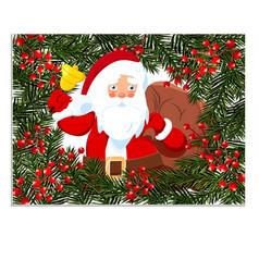 new year christmas card flyer invitation santa vector image