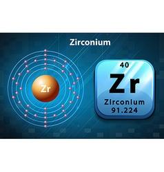 Periodic symbol and diagram of zirconium vector