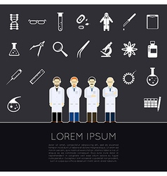 Scientists icons vector image vector image