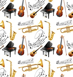 Seamless instruments vector image vector image