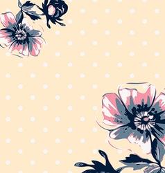 Vintage wallpaper frame rose flower pattern vector