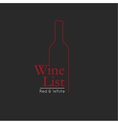 Wine list menu card design template vector