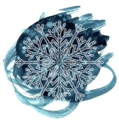 Hand drawn antistress snowflake vector