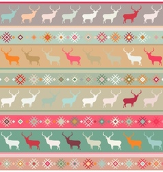 Christmas deer seamless pattern vector