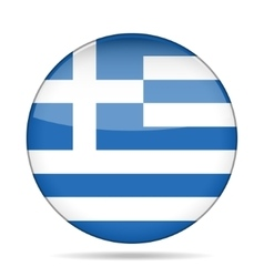 Button with flag of greece vector