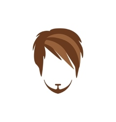 Hipster male hair and facial style with side vector