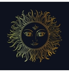 Ethnic sun ornament vector