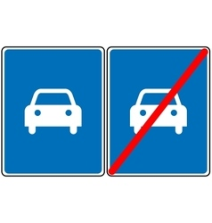 Road for car sign blue symbol only car vector