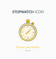 Stopwatch icon isolated on white vector