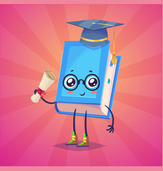 Set of book characters cute cartoons vector