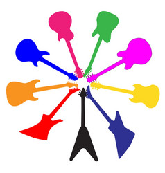 circle of guitars vector image