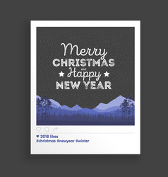 Creative greating card christmas landscape vector