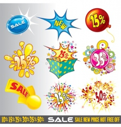 Price shop tags vector