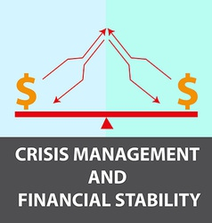 Crisis management background vector