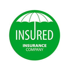 Logo umbrella for insurance company vector