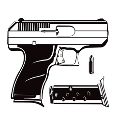 Black and white 9mm vector