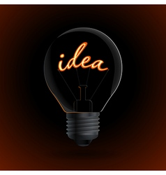 Lightbulb with idea sign on a dark background vector