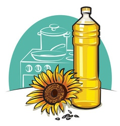 Sunflower cooking oil vector