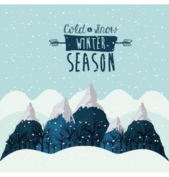 Winter season design vector