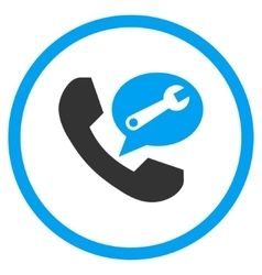 Phone service message flat rounded icon vector
