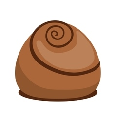 Chocolate icon dessert or sweet design vector
