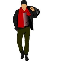 al 0331 young man 02 vector image vector image