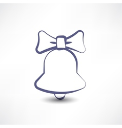 Bell with a bow vector image
