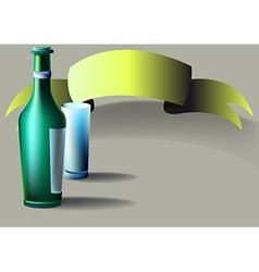 Bottle glass tape vector image