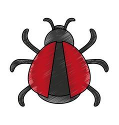 Bug icon image vector
