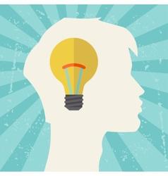 Conceptual of idea thinking vector