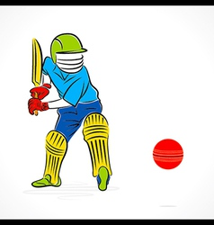 cricket player ready to hit the ball design vector image
