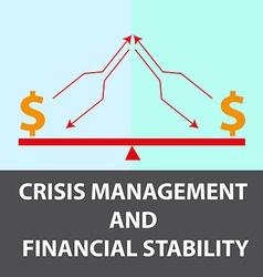 Crisis management background vector
