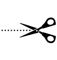 Cutting scissors with black points vector