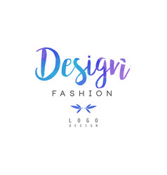 Design fashion logo badge for clothes boutique vector