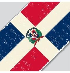 Dominican republic grunge flag vector