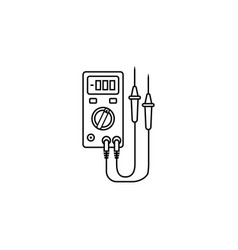 Electric tester line icon build repair vector