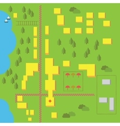 elements for easy creating maps vector image vector image