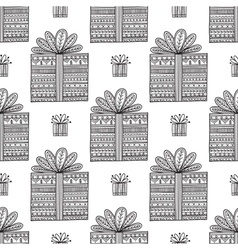 Gifts ornamental boho seamless pattern vector