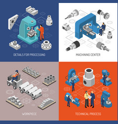 heavy industry isometric design concept vector image vector image