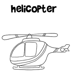 Helicopter art collection vector image