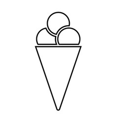 ice cream cone black color icon vector image